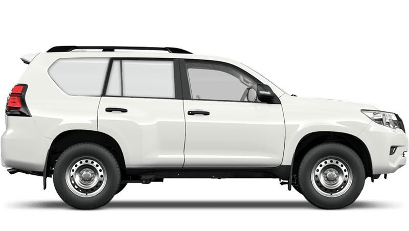 Pure White (Solid) Toyota Land Cruiser Commercial