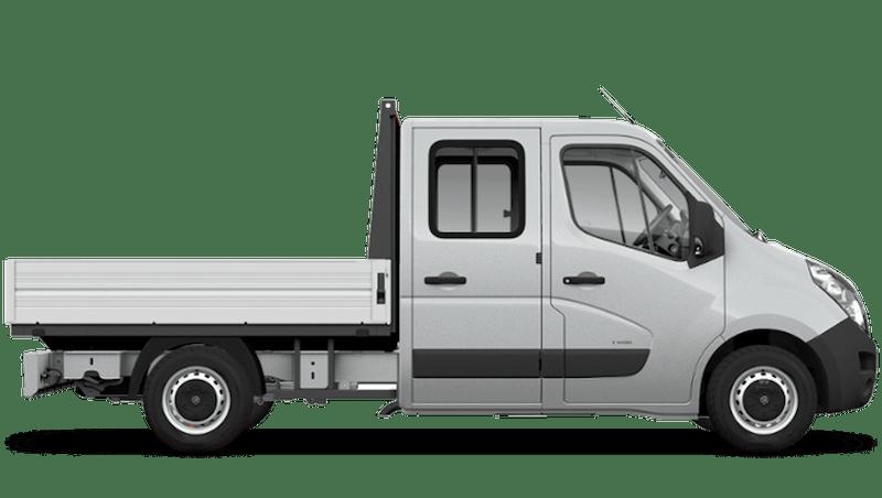 Halo Silver (Metallic) Vauxhall Movano Crew Cab Dropside