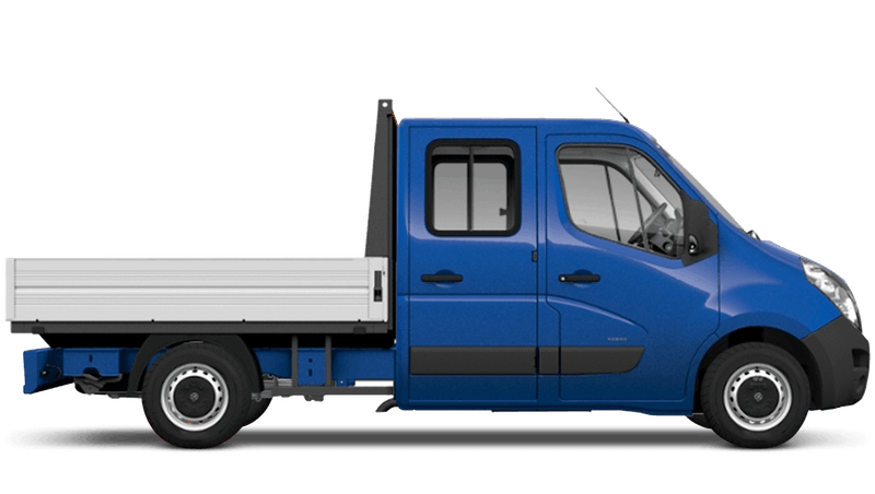 North Sea Blue (Solid) Vauxhall Movano Crew Cab Dropside