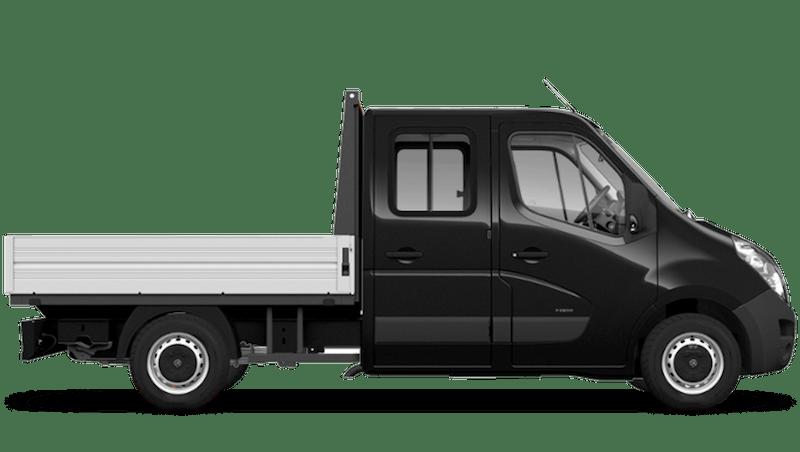 Pearl Black (Metallic) Vauxhall Movano Crew Cab Dropside