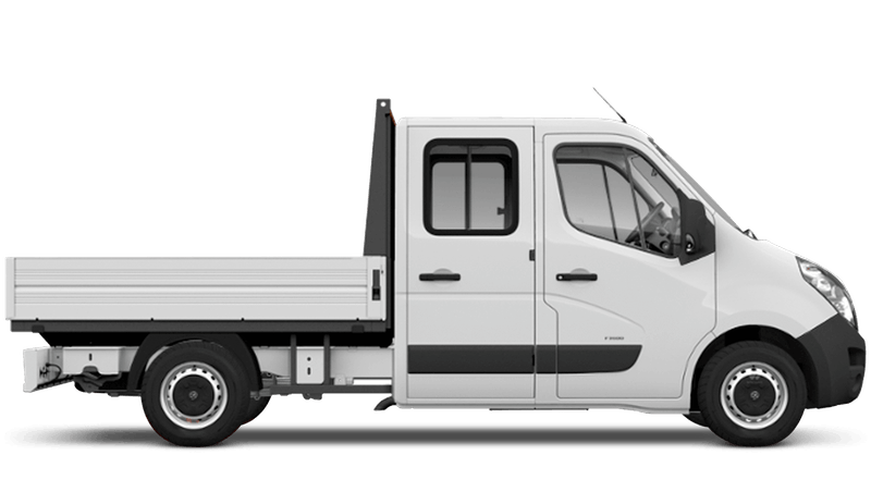 Polar White (Solid) Vauxhall Movano Crew Cab Dropside