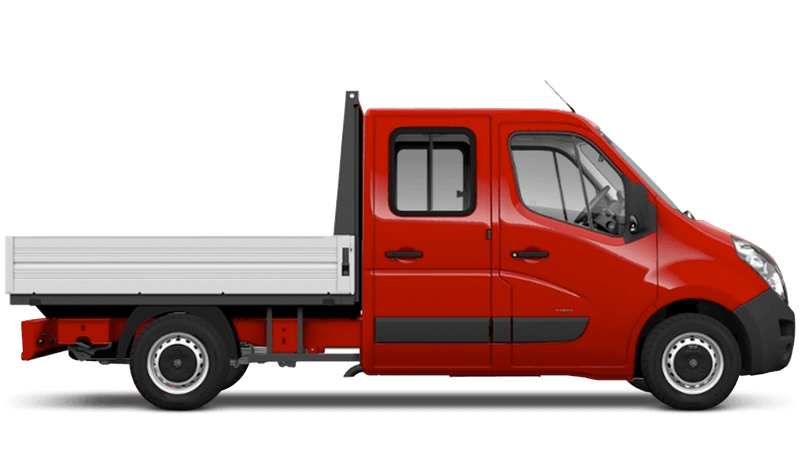 Poppy Red (Brilliant) Vauxhall Movano Crew Cab Dropside