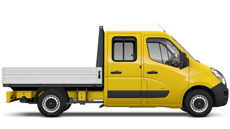 Saffron Yellow (Solid) Vauxhall Movano Crew Cab Dropside