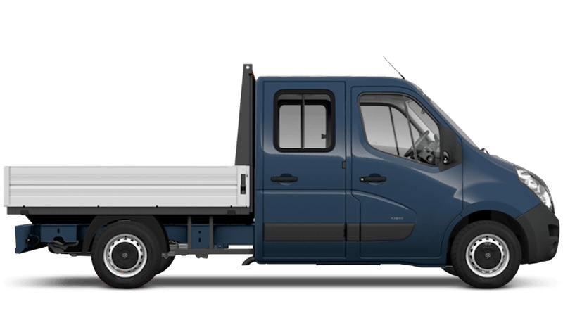 Signal Blue (Solid) Vauxhall Movano Crew Cab Dropside