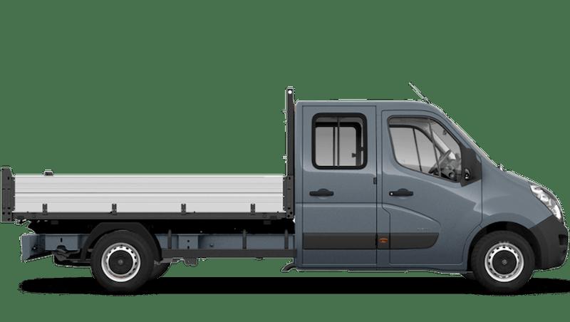 Ambient Blue (Metallic) Vauxhall Movano Crew Cab Tipper