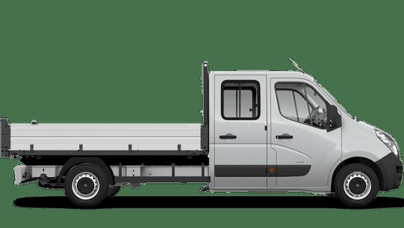 Halo Silver (Metallic) Vauxhall Movano Crew Cab Tipper