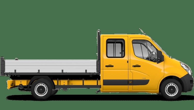 Mandarin Orange (Brilliant) Vauxhall Movano Crew Cab Tipper
