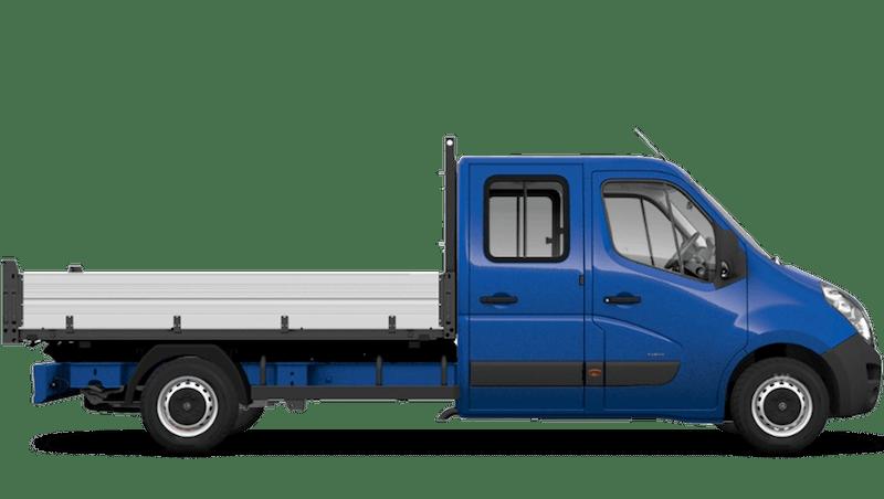 North Sea Blue (Solid) Vauxhall Movano Crew Cab Tipper