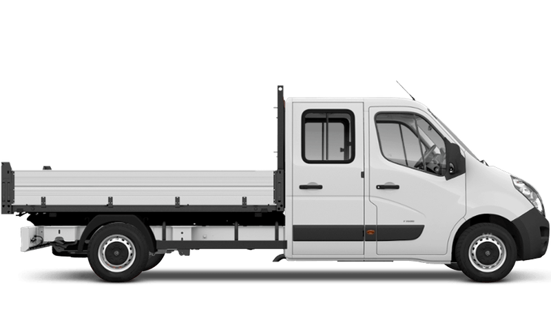 Polar White (Solid) Vauxhall Movano Crew Cab Tipper