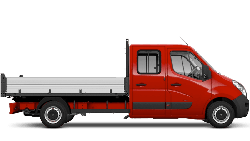 Poppy Red (Brilliant) Vauxhall Movano Crew Cab Tipper