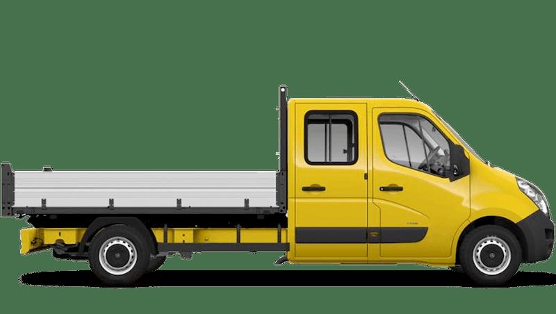 Saffron Yellow (Solid) Vauxhall Movano Crew Cab Tipper