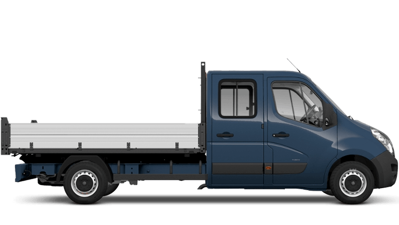 Signal Blue (Solid) Vauxhall Movano Crew Cab Tipper