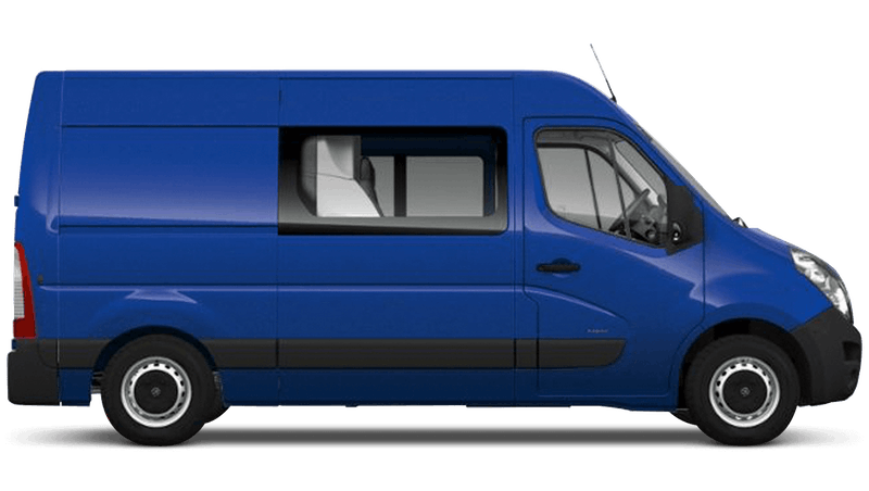 North Sea Blue (Solid) Vauxhall Movano Doublecab