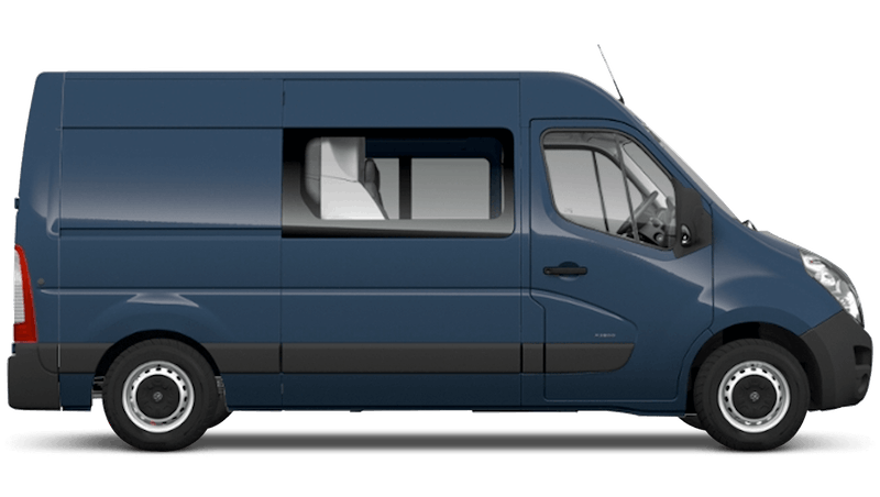 Signal Blue (Solid) Vauxhall Movano Doublecab