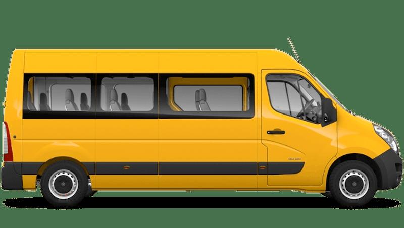 Mandarin Orange (Brilliant) Vauxhall Movano Minibus
