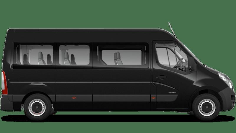 Pearl Black (Metallic) Vauxhall Movano Minibus