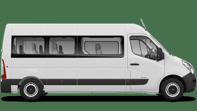 Polar White (Solid) Vauxhall Movano Minibus