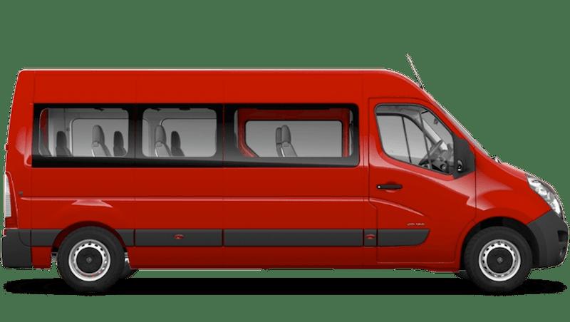 Poppy Red (Brilliant) Vauxhall Movano Minibus