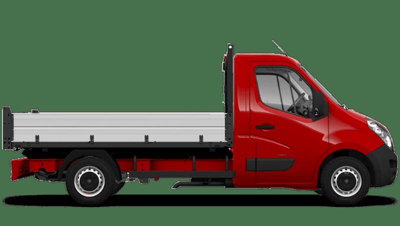 Poppy Red (Brilliant) Vauxhall Movano Tipper