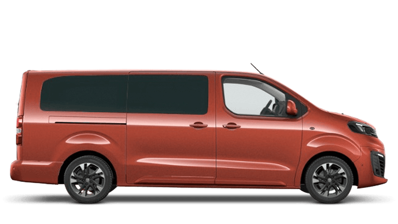 Amber Red Vauxhall Vivaro e Life
