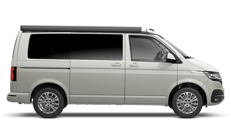 Ascot Grey with Candy White Roof (Metallic) Volkswagen California 6.1