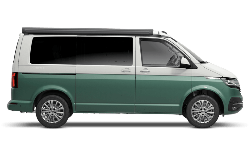 Bay Leaf Green with Candy White Roof (Metallic) Volkswagen California 6.1