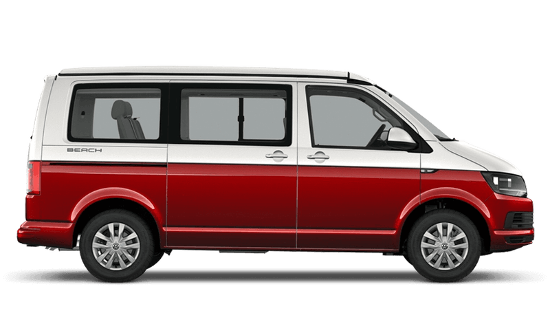 Candy White / Cherry Red (Two Tone) Volkswagen California