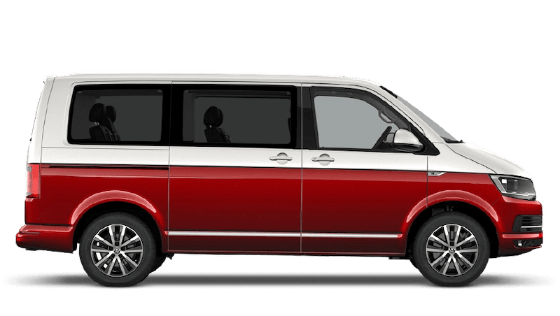 Candy White / Cherry Red (Two Tone) Volkswagen Caravelle