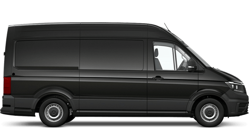 Deep Black Pearl (Metallic) Volkswagen Crafter Panel Van