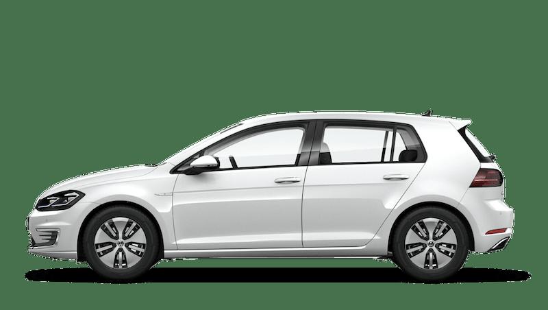 Pure White (Solid) Volkswagen e-Golf