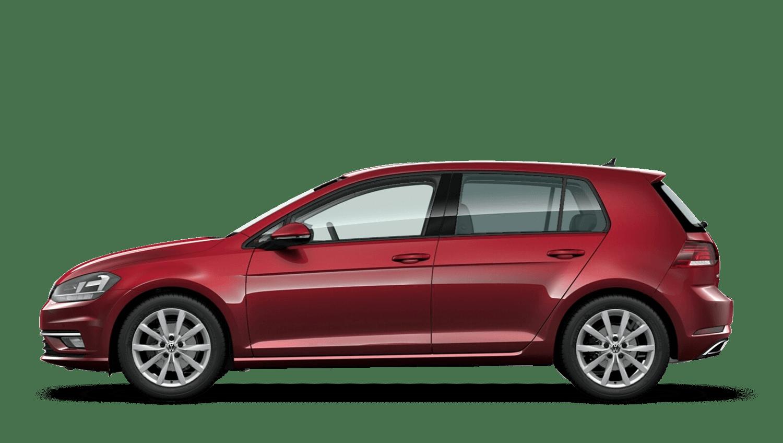 Cranberry Red (Metallic / Pearl) Volkswagen Golf