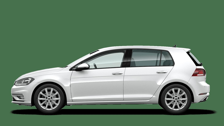Pure White (Solid) Volkswagen Golf