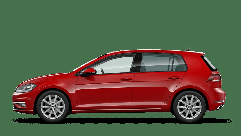 Tornado Red (Solid) Volkswagen Golf
