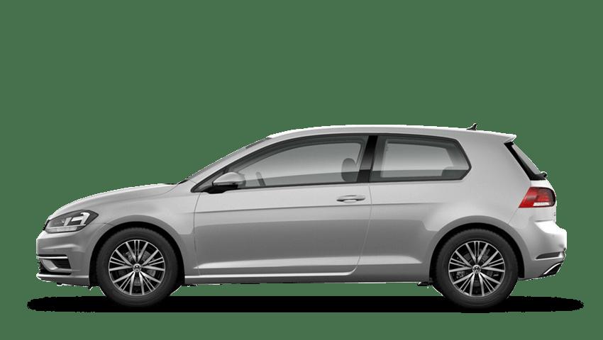 Reflex Silver (Metallic / Pearl) Volkswagen Golf