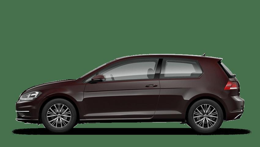 Ruby Black (Metallic / Pearl) Volkswagen Golf