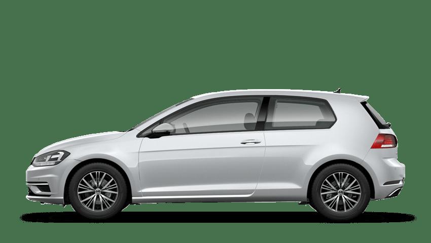 White Silver (Metallic / Pearl) Volkswagen Golf