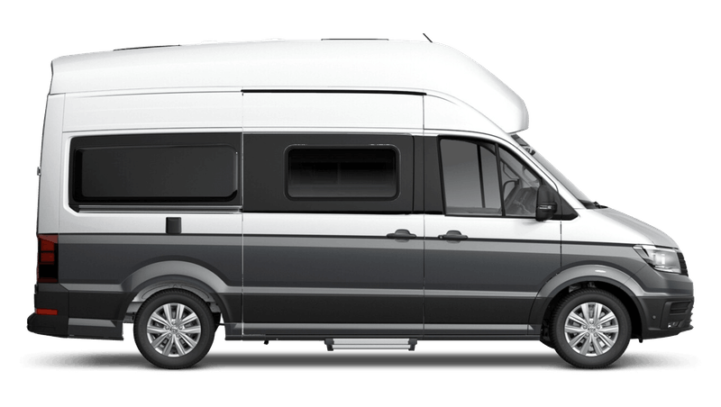 Indium Grey with Reflex Silver Roof (Metallic) Volkswagen Grand California