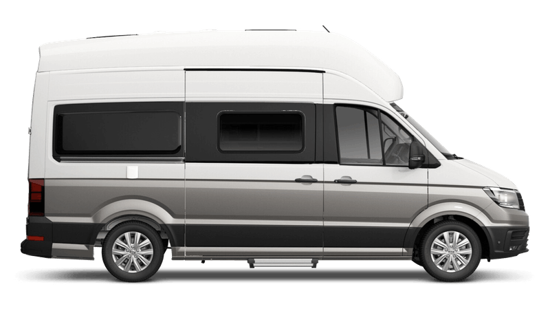 Mojave Beige with Candy White Roof (Metallic) Volkswagen Grand California