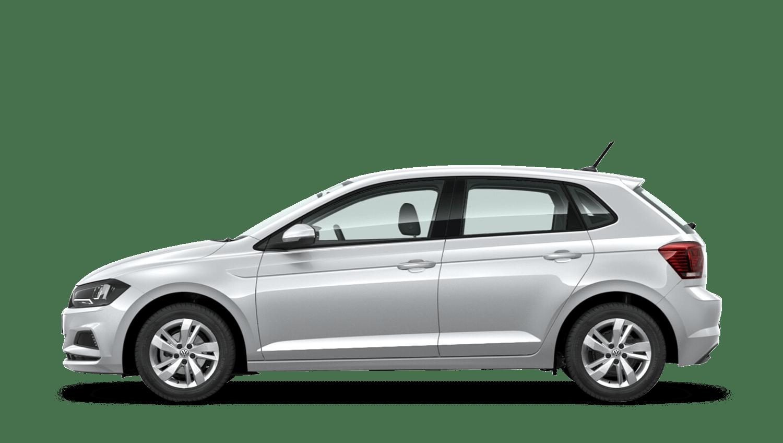 White Silver (Metallic) Volkswagen Polo