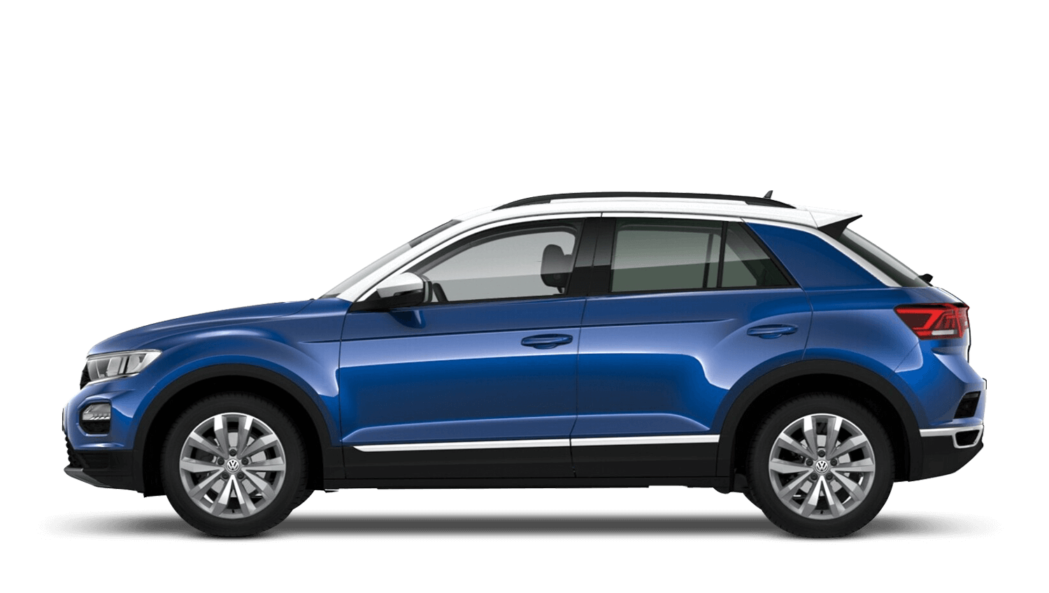 Atlantic Blue with Pure White Roof (Metallic / Pearl) Volkswagen T Roc