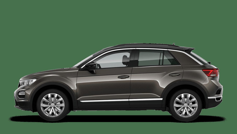 Dark Oak Brown with Black Roof (Metallic / Pearl) Volkswagen T Roc