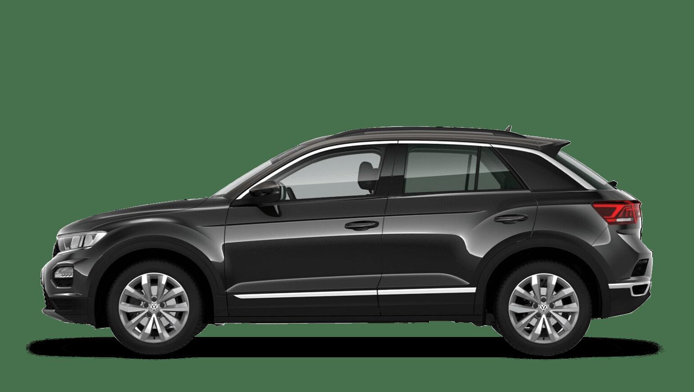 Deep Black Pearl with Dark Oak Brown Roof (Metallic / Pearl) Volkswagen T Roc