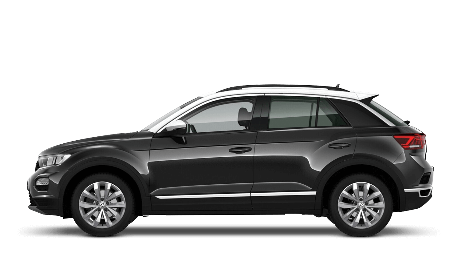 Deep Black Pearl with Pure White Roof (Metallic / Pearl) Volkswagen T Roc