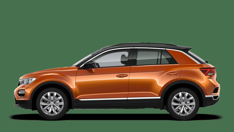 Energetic Orange with Black Roof (Metallic / Pearl) Volkswagen T Roc