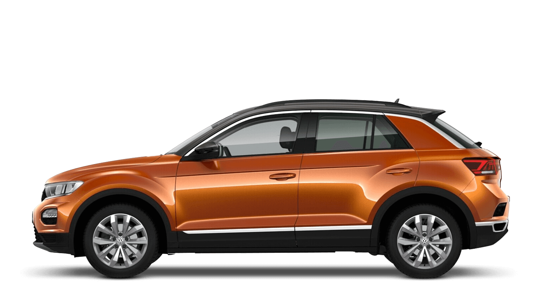 Energetic Orange with Dark Oak Brown Roof (Metallic / Pearl) Volkswagen T Roc