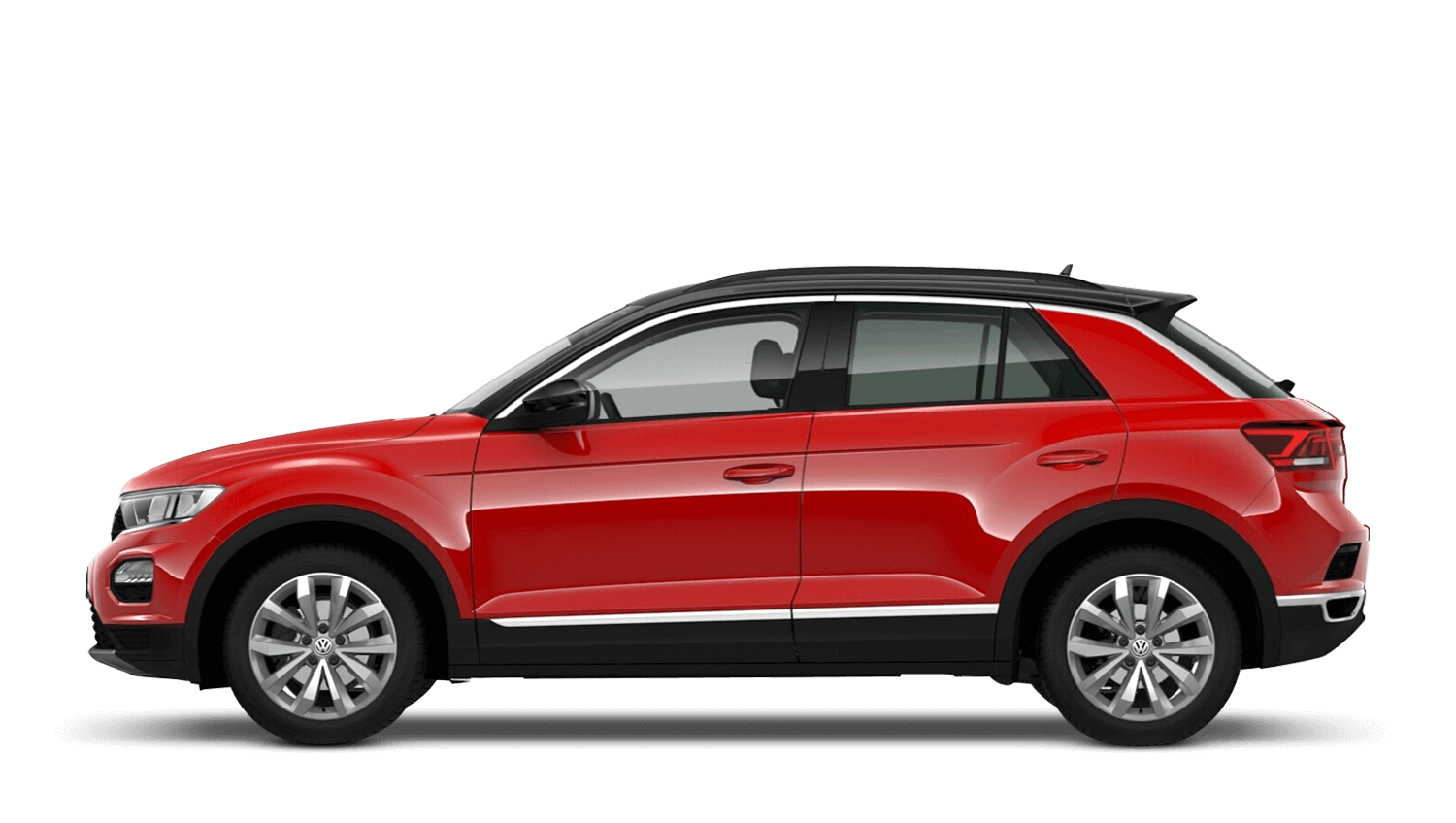 Flash Red with Black Roof (Solid) Volkswagen T Roc