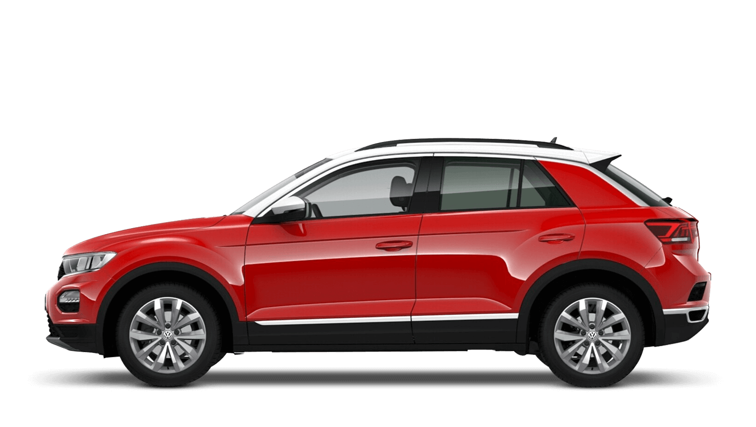 Flash Red with Pure White (Solid) Volkswagen T Roc