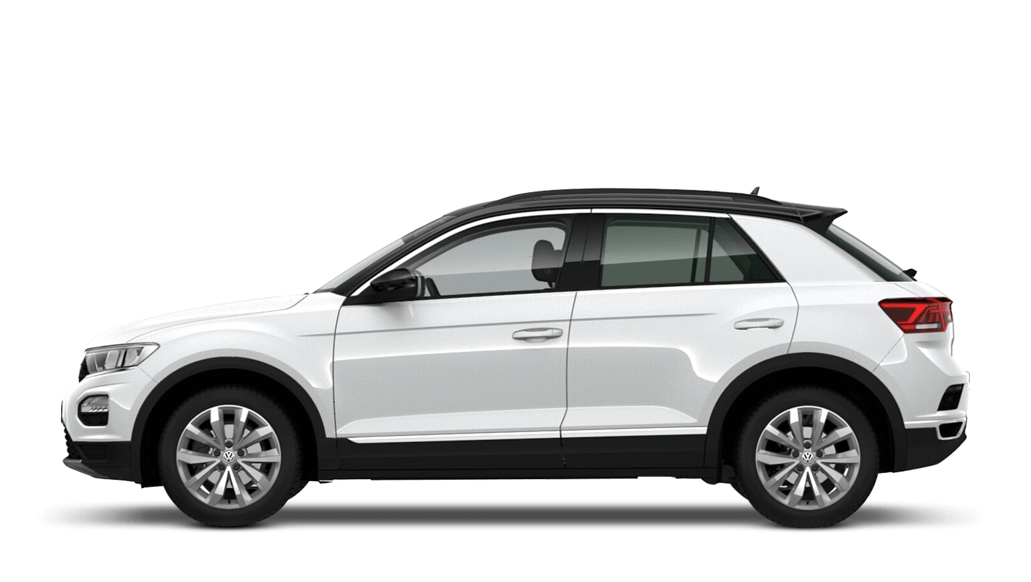 Pure White with Black Roof (Solid) Volkswagen T Roc