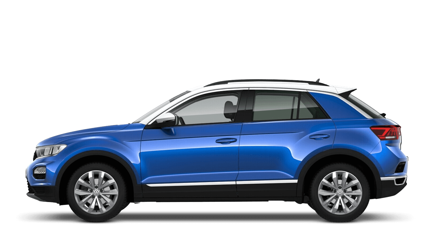 Ravenna Blue with Pure White Roof (Metallic / Pearl) Volkswagen T Roc