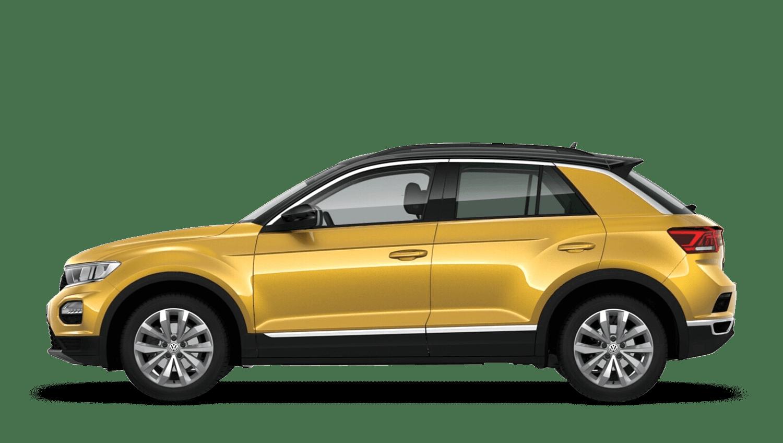 Turmeric Yellow with Black Roof (Metallic / Pearl) Volkswagen T Roc